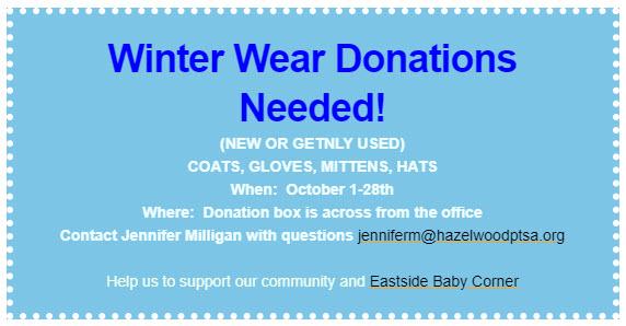 Winter Wear Donations